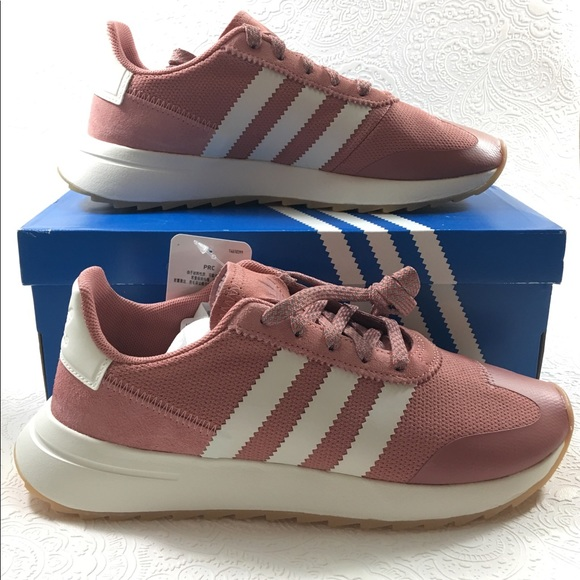 e66bdb09282ab1 Adidas Originals Flashback Raw Pink White Runners